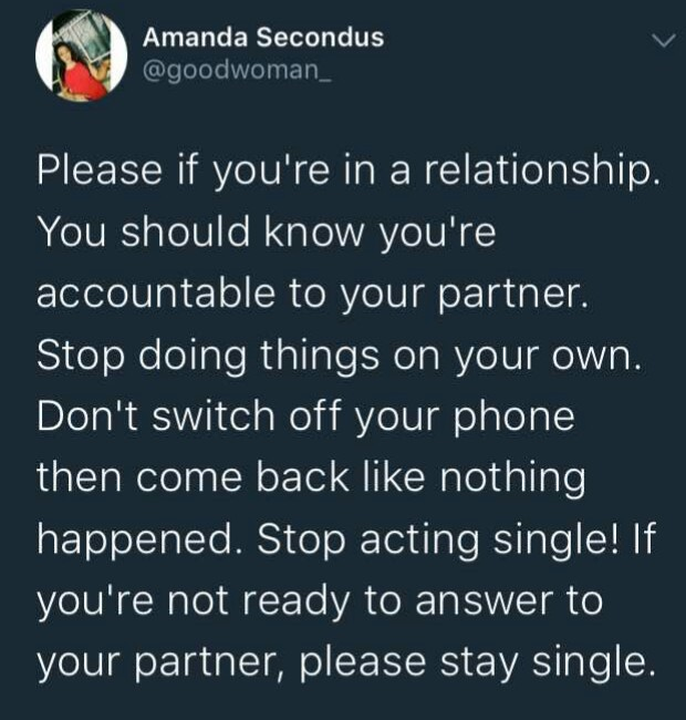 5a66be534e80d - Lady advises men in relationships to stop acting single