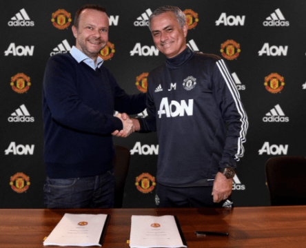 Jose Mourinho signs contract extension with Manchester United until 2020