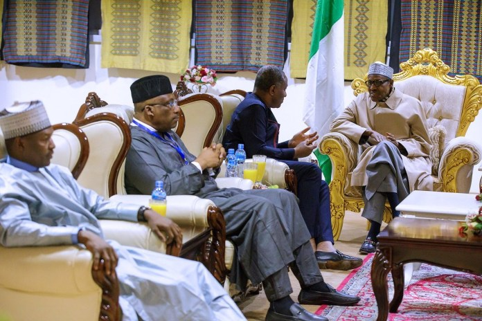 Photos of President Buhari arriving Addis Ababa for the 30th Ordinary Session of the African Union