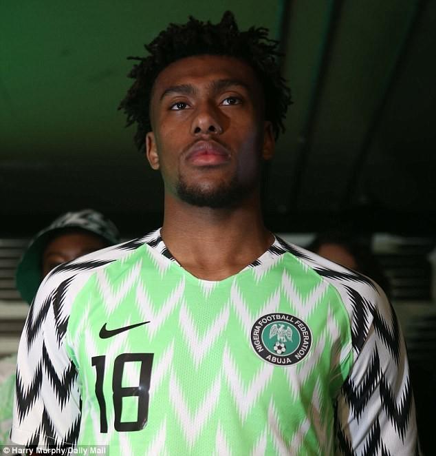 2ed253529e3 World cup  Nigeria unveil new jersey with Wizkid and Alex Iwobi (Photos)
