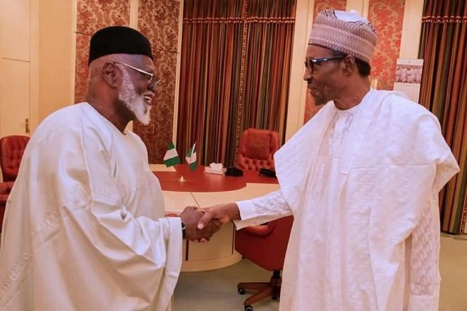 5a83000832013 - Photos: Former President Abdulsalami Abubakar visits President Buhari in the state house
