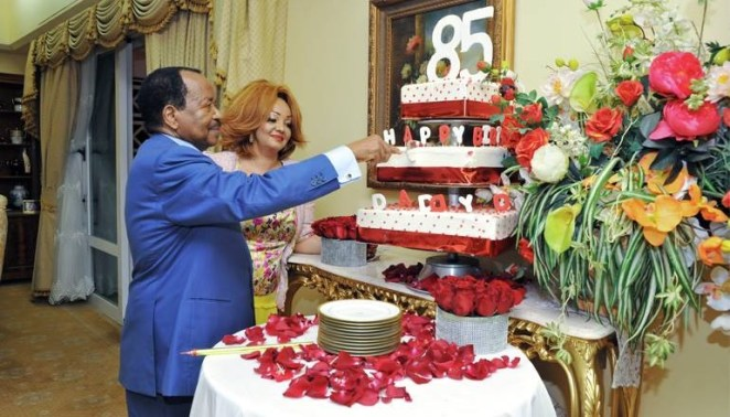 5a834adc6a31d - Cameroonian president, Paul Biya and his stunning wife, Chantal, celebrate his 85th birthday(photos)