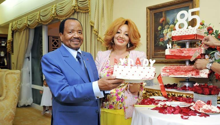 Cameroonian president, Paul Biya and his stunning wife, Chantal, celebrate his 85th birthday(photos)