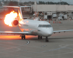 5 people injured after a Delta Airline flight from Lagos to Atlanta catches fire