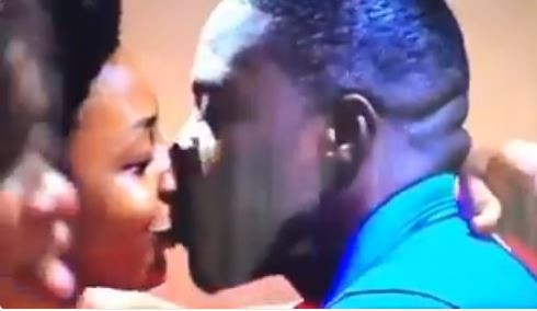 5a845a2569cd4 - #BBNaija: Incase you missed it, here is the moment Bitto locked lips with Ifu Ennada(Video)
