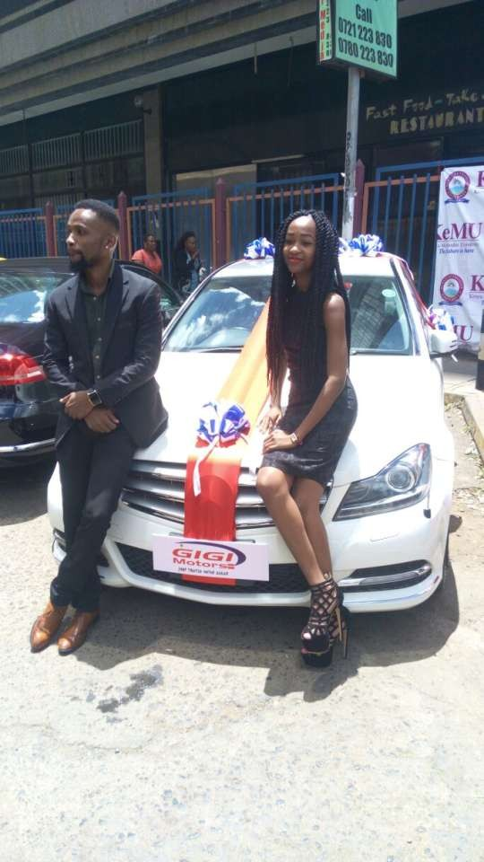 5a84b855ab149 - 20-year-old girl borrows money from her dad to buy her boyfriend of 4years a brand new Mercedes on Valentine's day (Photos)