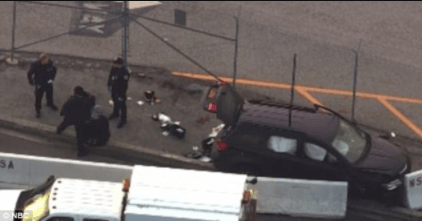 5a854306db067 - 3 injured and 3in custody after SUV tries to ram gate at National Security Agency and is stopped by police officers who shot at its windshield