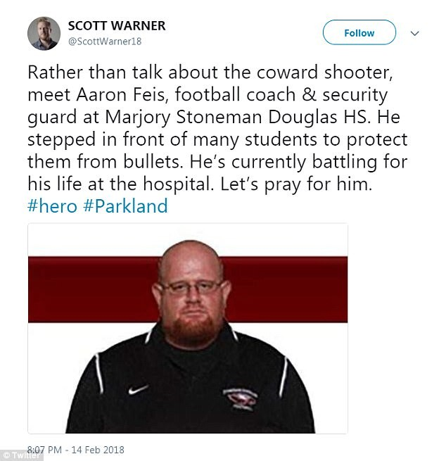 5a855607a6f7e - Beloved track coach and teenage girl are named among the 17 tragic victims of Florida high school massacre (photos)