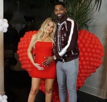 Sweet photo of pregnant Khloe Kardashian and her man, Tristan Thompson
