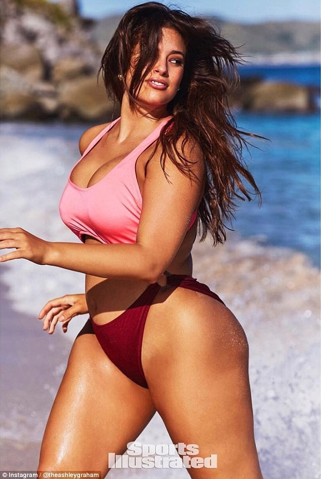 Ashley Graham flaunts her massive assets in string bikini for racy Sports Illustrated photoshoot (Photos)