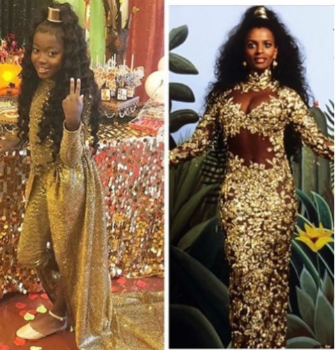 All hail the princess! Little girl gets thrown a Coming To America themed party (photos/ videos)