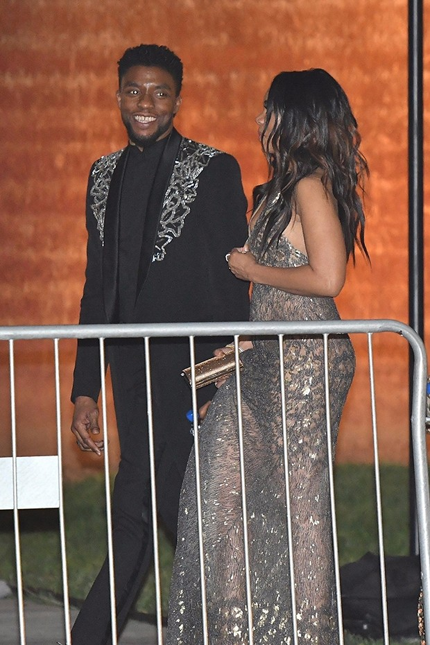 Chadwick ?Black Panther? Boseman spotted leaving Oscar