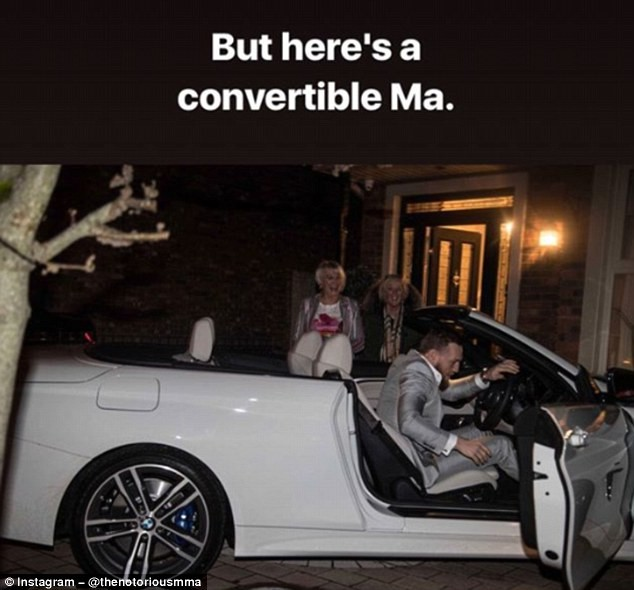 Photos: Conor McGregor buys his mum a BMW 4 series convertible worth ?40,000 for her birthday