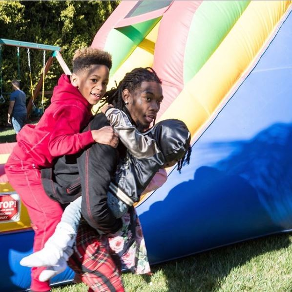 Daddy Duties: Offset spends quality family time with his 3 kids (Photos)