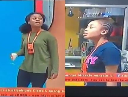 Here is the moment Nina and Cee-C nearly came to blows in the Big Brother House (Videos)