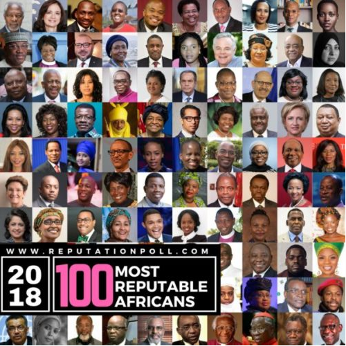 Chimamanda, Fela Durotoye, Tony Elumelu, Oby Ezekwesili, Sanusi L Sanusi and more Nigerians top list of 100 most reputable Africans