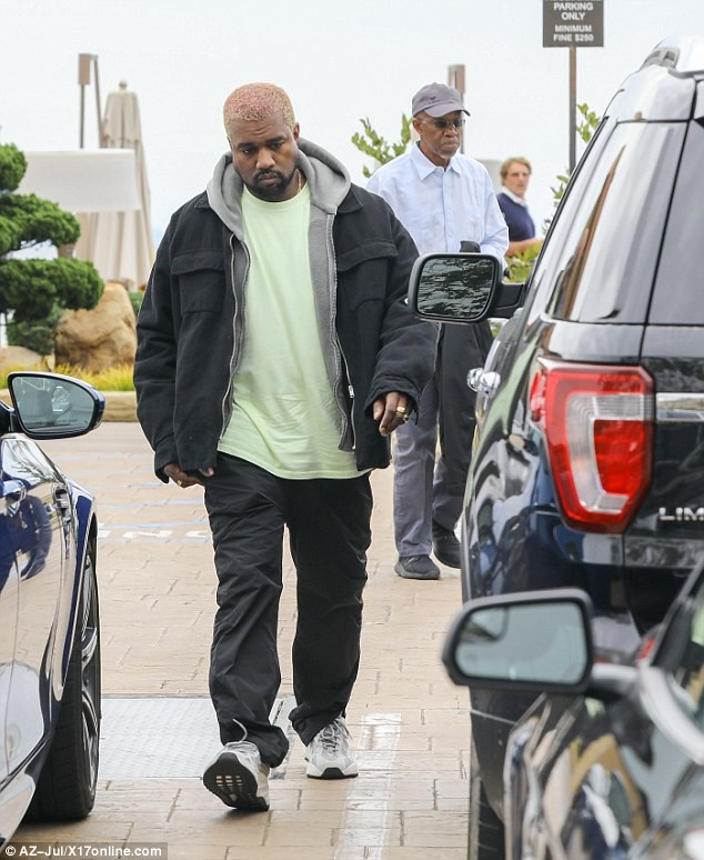 Photos: Kanye West makes rare outing with his dad as he treats him to a sushi lunch date in Malibu