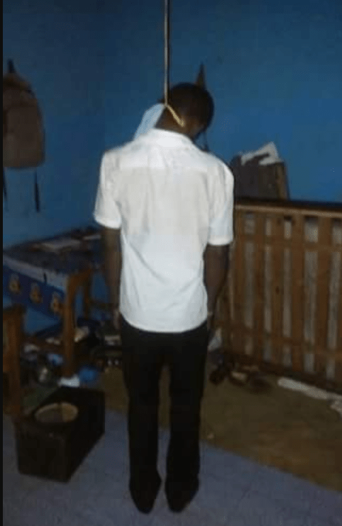 First year university student commits suicide because his girlfriend allegedly cheated on him (graphic photo)