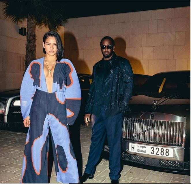 Diddy and Cassie share a cute pic during their first visit to Dubai