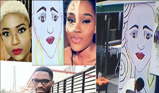 #BBNaija: Who did Tobi paint on his wall? Ceec or?his real girlfriend, Regina?