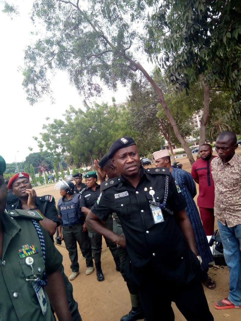 Photos: Deji Adeyanju, arrested by Police in Abuja