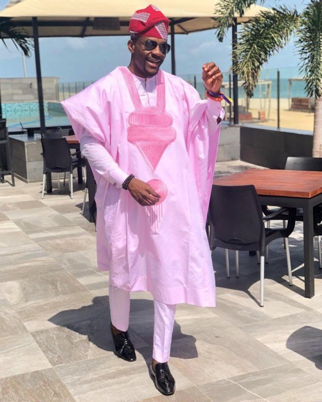 Ebuka or Banky, who rocked the pink Agbada better?