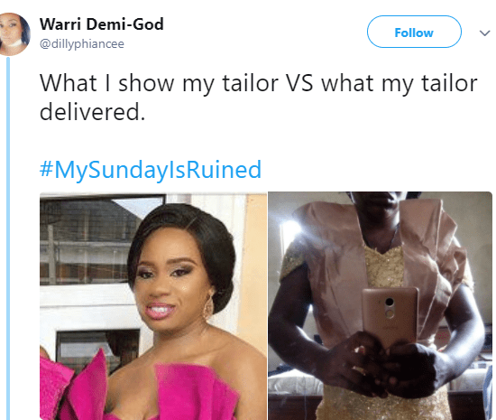 Lool! Lady shares hilarious what she ordered vs what she got from her tailor