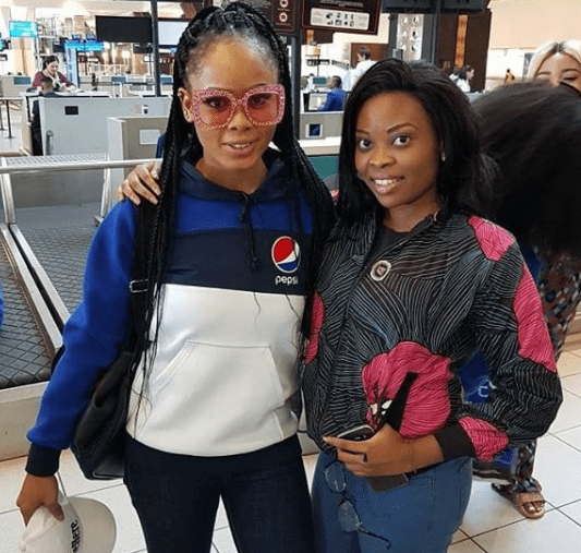 Photos of #BBNaija finalists on their way to Nigeria from South Africa