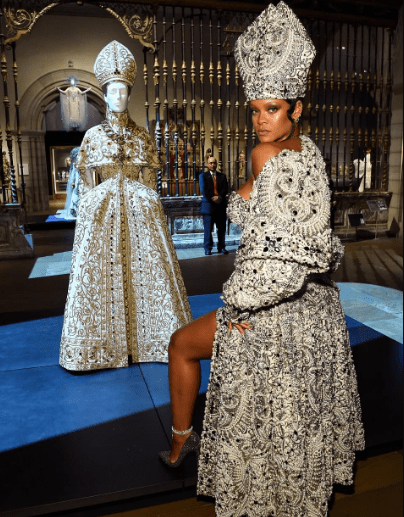 This video of Rihanna strutting among the statues of the Greek and Roman galleries in her show stopping Met Gala outfit is everything!