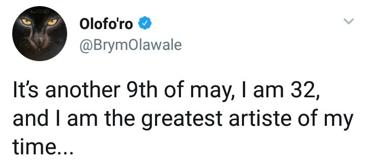 Brymo courts controversy as he refers to himself as the greatest artiste of his time