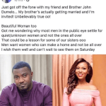 John Dumelo Set to Wed this Saturday