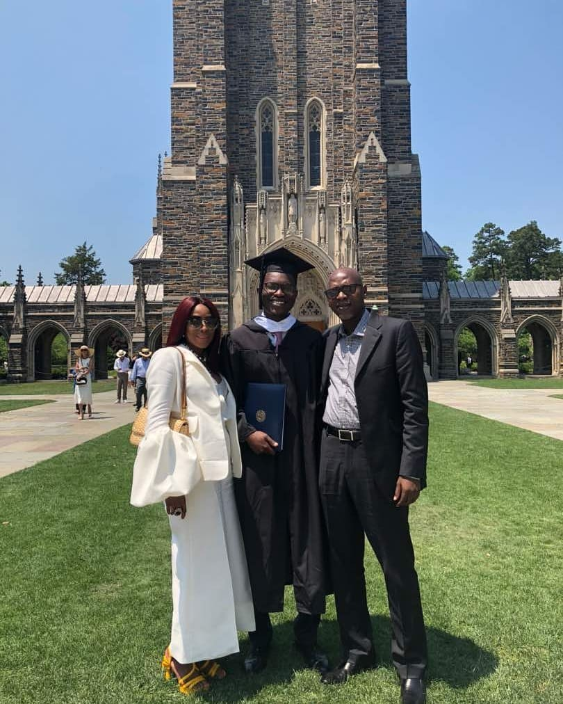 Mo Abudu celebrates son Adekoyejo as he graduates from Duke University (photos)