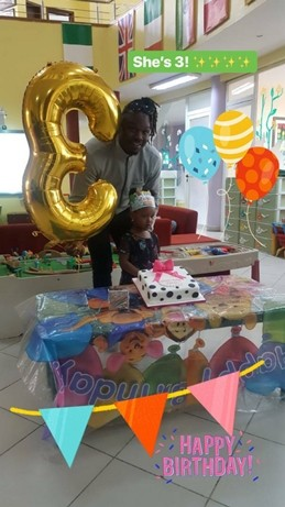 Dr Sid and Davido celebrate their daughters