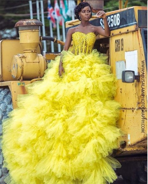 BBNaija star Khloe rocks strapless dazzling gown in new photos