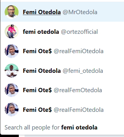 Billionaire businessman, Femi Otedola NOT running for governor of Lagos state in 2019! Fake account shared the announcement!
