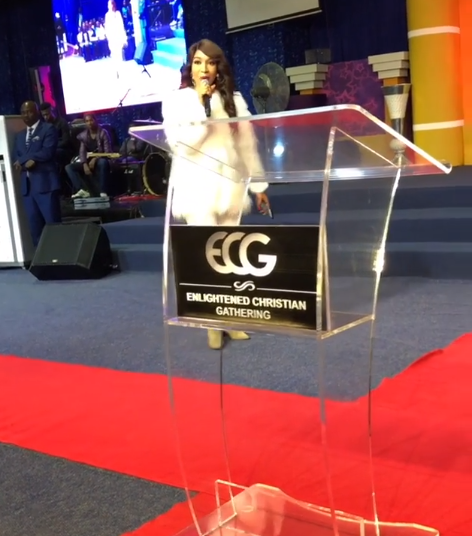 Photos/Videos of Tonto Dikeh ministering at a church in South Africa