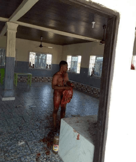 Alleged Yahoo boy commits suicide in horrific manner in Delta state (graphic photos)