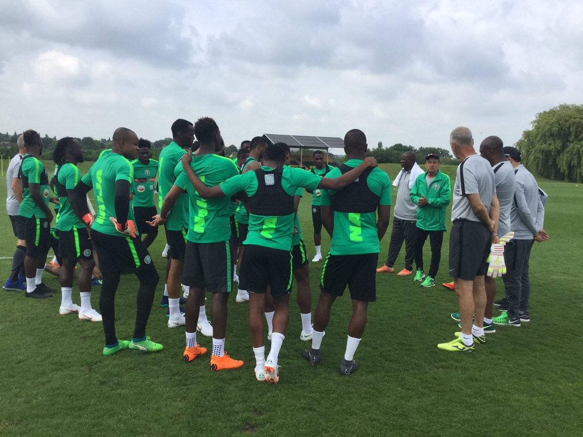 Super Eagles gear up for England friendly at ?Wembley Stadium on Saturday (Photos)