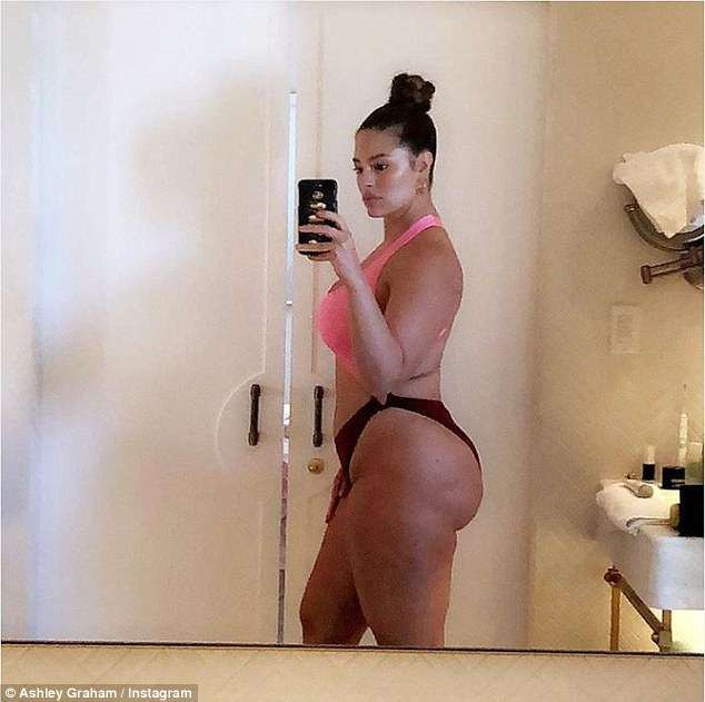 Ashley Graham shows off her killer curves during Miami holiday (Photos)