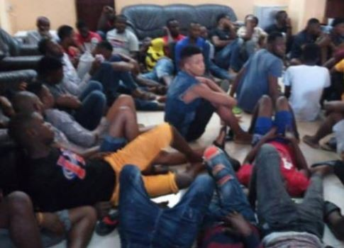 Photos: 50 Nigerians arrested for Internet fraud and robbery in Ghana