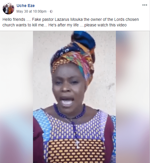 Nigerian woman accuses Pastor Lazarus Muoka of the Lord