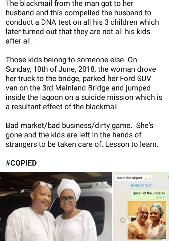 5b201079d99c4 - New photo of the woman people claimed jumped off third mainland bridge surface on IG