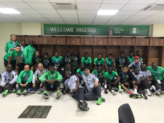 2018 World Cup; Super Eagles Of Nigeria Lands In Russia -Photos