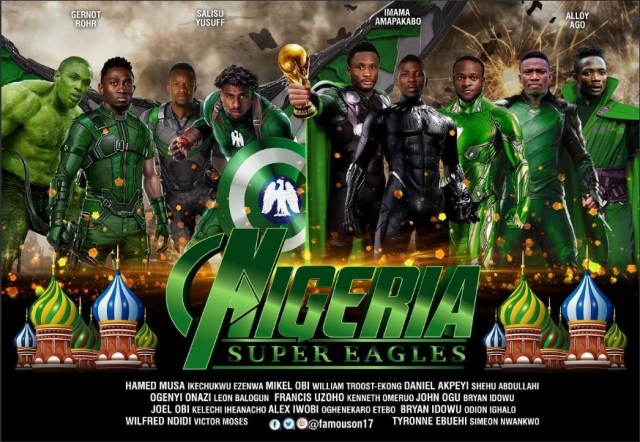 This image of Super Eagles as superheroes is epic