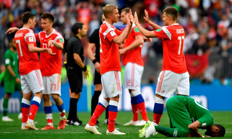 Russia thrash Saudi Arabia 5-0 in 2018 world cup opener