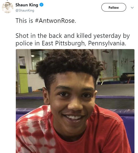 Black teen shot and killed by police in Pennsylvania