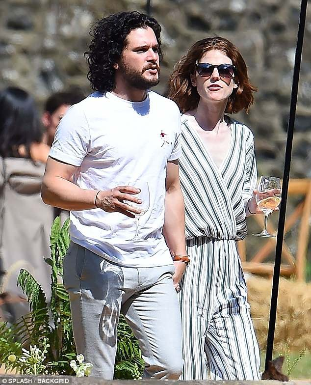 Game of Thrones stars, Kit Harington and Rose Leslie pictured for the first time after their wedding (Photos)