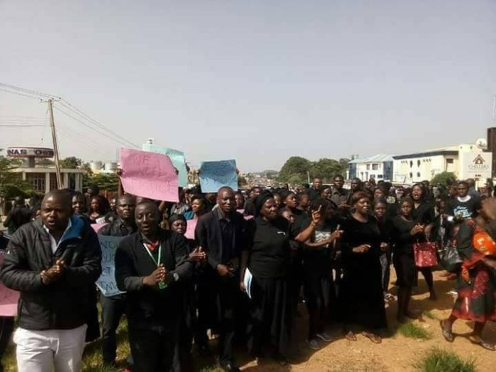 Photos: Plateau state residents protest killing of over 100 persons by suspected herdsmen