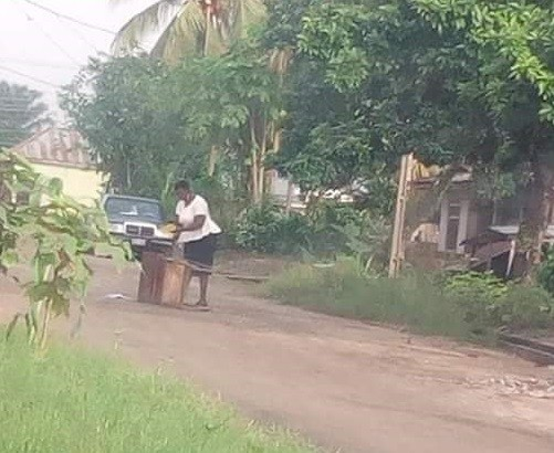 Angry teacher lay curse on boys who defecated all over her school in Delta State, sets their faeces on fire (photos)