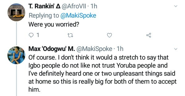 See the response an Igbo father gave his daughter after she told him about her new Yoruba boyfriend